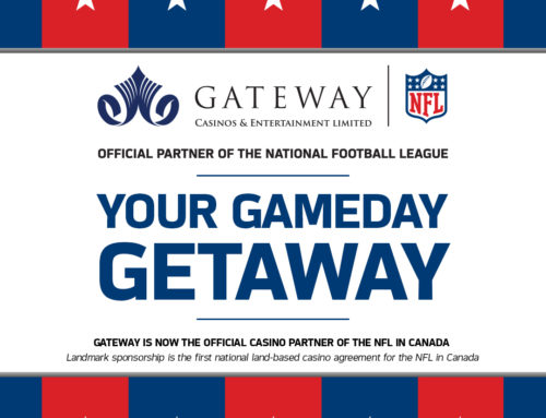 GATEWAY IS NOW THE OFFICIAL CASINO PARTNER OF THE NFL IN CANADA  AND PRESENTING SPONSOR OF THE NFL FANTASY APP!